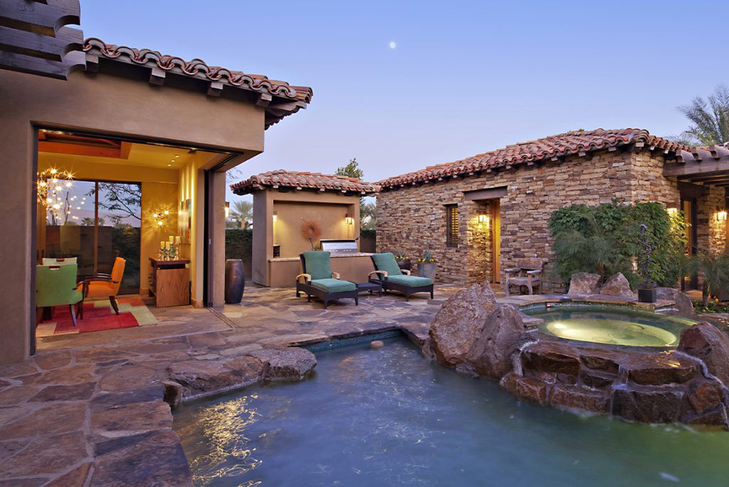 backporch in st. george with a pool