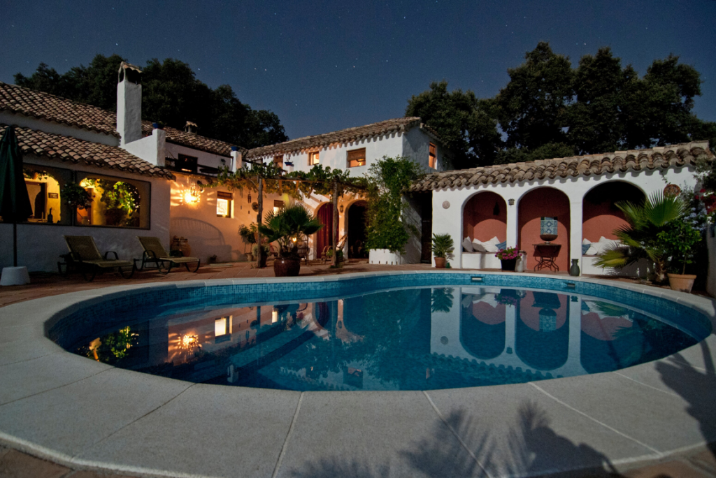 beautiful spanish style home with pool
